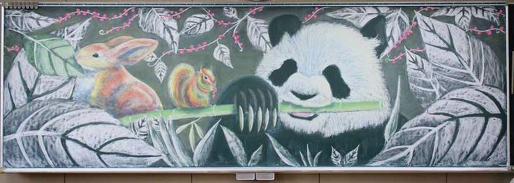 Over the last few years, Japanese students have gotten into the habit of drawing beautiful works of art on their chalkboards during downtime between classes. To celebrate this awesome trend, Japanese chalkboard manufacturer Nichigaku just hosted a chalkboard art contest to find some of the best chalkboard art in Japan.