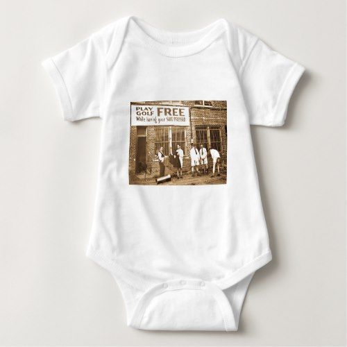 Play Golf Free (While Having Your Suit Pressed) Baby Bodysuit