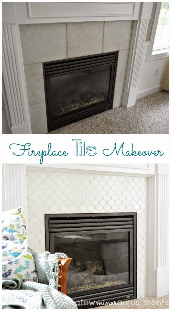 Fireplace Tile Makeover Fireplace Remodel Tile Around