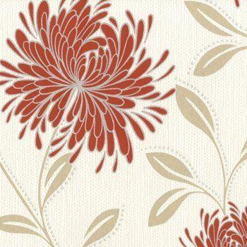 belgravia dahlia wallpaper