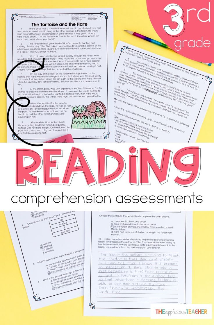 Reading assessments for 3rd grade. These are classroom tested and written by a third grade teacher! Love that this assessments cover a variety of skills per assessment and include a writing piece.
