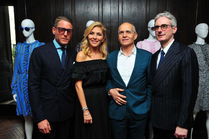 Lapo Elkan, Arzu Sabanci, Pietro Negra and Andrea Tessitore at The PINKO Invasion event in Istanbul - Soho House