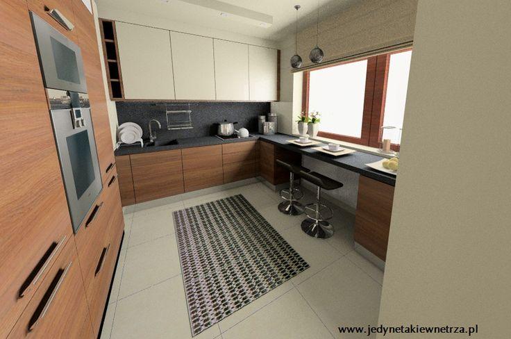 Aranżacja kuchni wystrój nowoczesny w kolorach beż, brąz - projekt wnętrza #9074183, Homplex