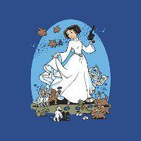 "Princess Leia Vader Campfire Story T-Shirt - ""Rebel Princess"" - Disney princesses telling stories around the campfire."