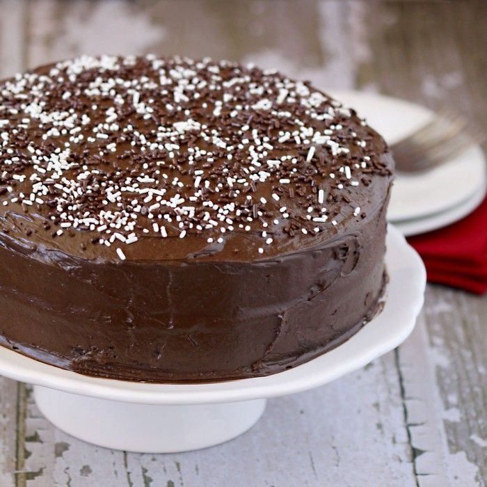 chocolate layer cake....this cake recipe does not require any butter which is a total bonus! Super moist!