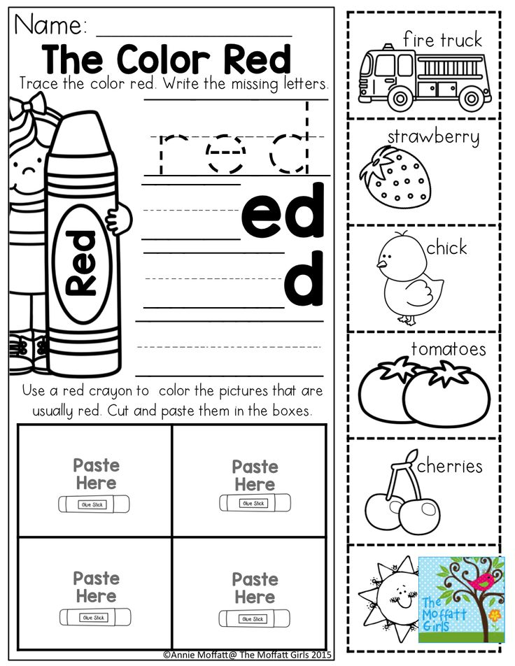 color word practice and tons of other printable for preschool to 3rd grade - Crayon To Color