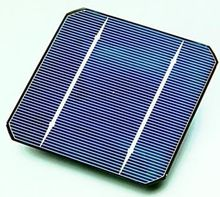 A solar cell (also called a photovoltaic cell) is an electrical device that converts the energy of light directly into electricity by the photovoltaic effect. It is a form of photoelectric cell (in that its electrical characteristics—e.g. current, voltage, or resistance—vary when light is incident upon it) which, when exposed to light, can generate and support an electric current without being attached to any external voltage source, but do require an external load for power consumption.