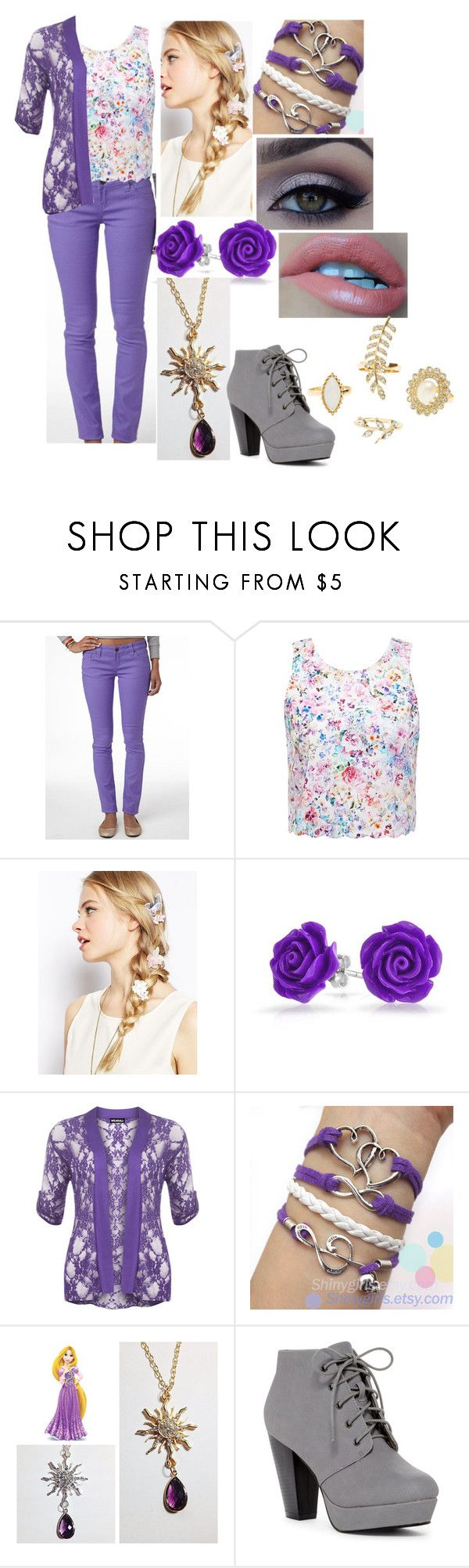 """Disney's Descendants: Rapunzel and Eugene's Daughter"" by sophie-quake-jones ❤ liked on Polyvore featuring Forever New, ASOS, Bling Jewelry, WearAll, Disney, ANNA and Charlotte Russe"