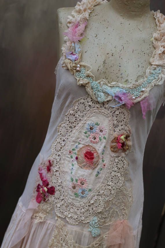 Bohemian tea party dress altered couture bohemian