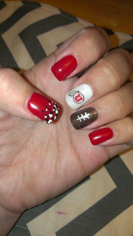 Utah Utes football nails
