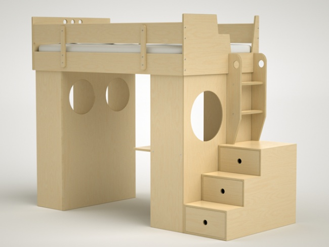 Dumbo Loft Bed with Stairs . for my girls