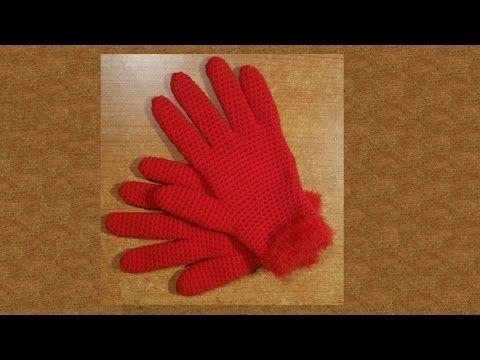 Guanti facili all'uncinetto  -   tutorial passo a passo - crochet mitten...