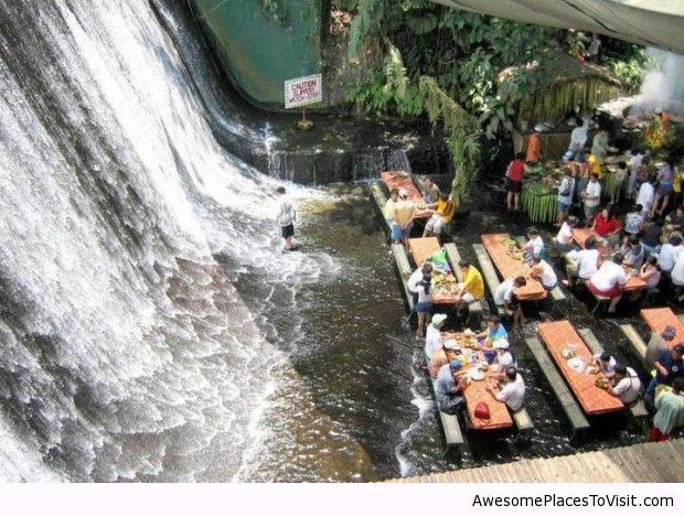 Lunch at Waterfalls Restaurant, Manila, Philippines – Vila Escudero http://exploretraveler.com