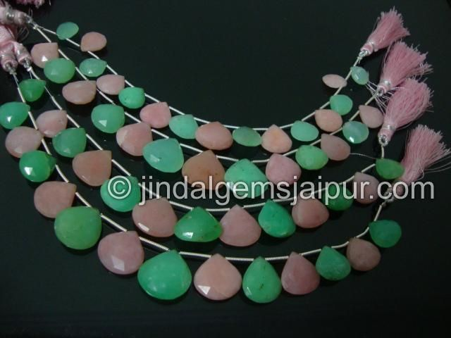 Multi Stone Facetedst Heart Gemone Beads.