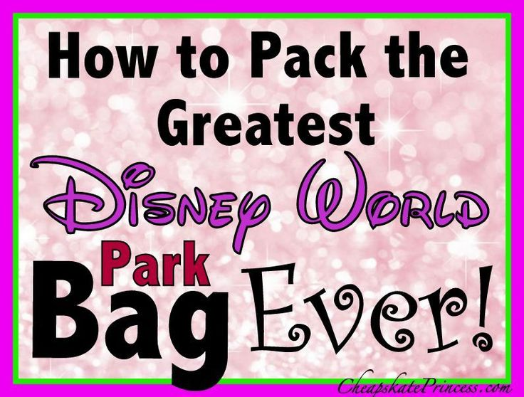 25 Best Ideas About Disney Packing Lists On Pinterest