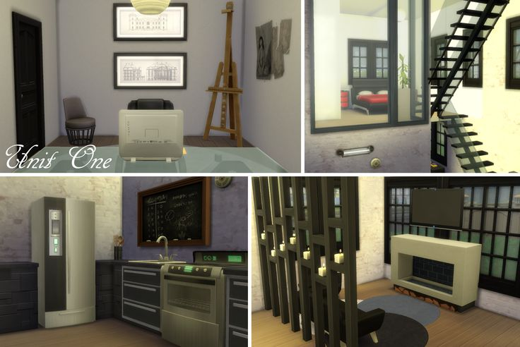 My Sims 4 lot build: Windenburg Apartments (pic of Unit 1) by LiseHaidee Download it from the gallery and enjoy!
