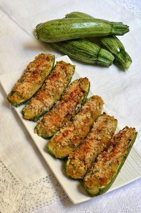 ITALIAN FOOD - ZUCCHINE RIPIENE VEGETARIANE (vegetarian stuffed zucchini)