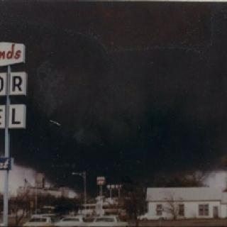 Tornado in Wichita Falls. Black Tuesday, April 10, 1979