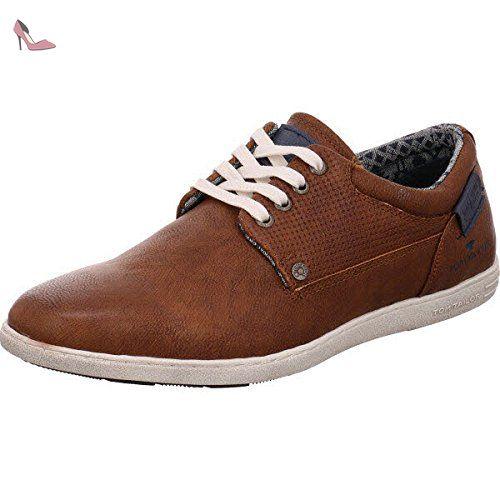 TOM TAILOR  2781203, Chaussures de ville à lacets pour homme - marron - cognac, 40 EU - Chaussures tom tailor (*Partner-Link)