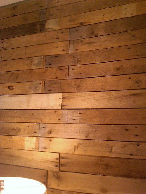 Scrap pallet wall: Diy'S, Pallet Walls, Planks Wall, Pallets Floors, Pallets Woods Wall, Woods Pallets Wall, Scrap Pallets, Pallets Planks, Accent Wall