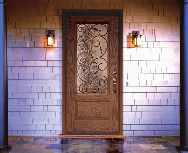 Feather river door bellante wrought iron entry door entry exterior doors pinterest - Home depot feather river door ...