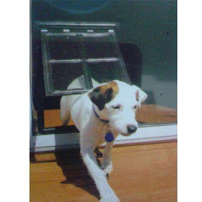 Small Lockable Dog Cat Pet Screen Door Window Flap Anti-Mosquito 8x10 Black