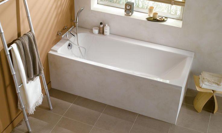 Les 25 meilleures id es de la cat gorie baignoire - Salle de bain rectangulaire ...