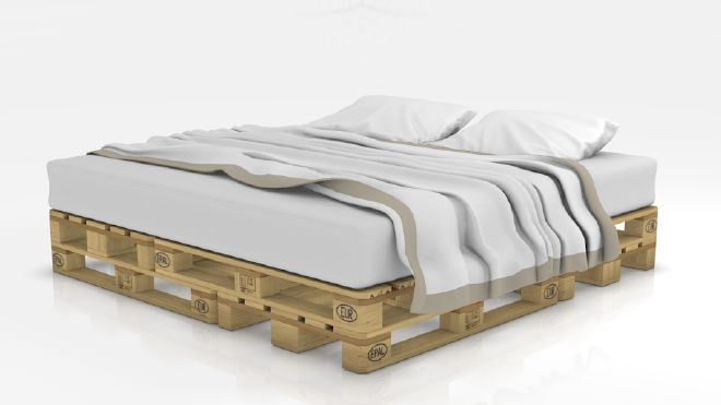 Letto 200x200 Pallet Bed on blomming.com #design #ecodesign