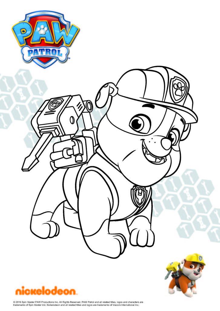 Paw Patrol Ausmalbilder Bulldogge Rubble Patrulha Canina Para Colorir Patrulha Canina Desenho Decoracao Patrulha Canina