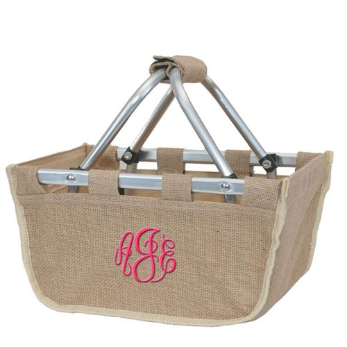 #minimarkettotes #picnic #preppy #Christmas #monogram #organizers #totes #embroidery #personalized #marketbasket #shopper