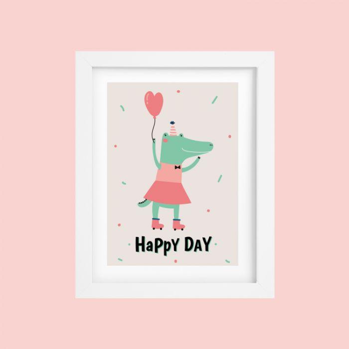 Poster Krokodil Happy Day