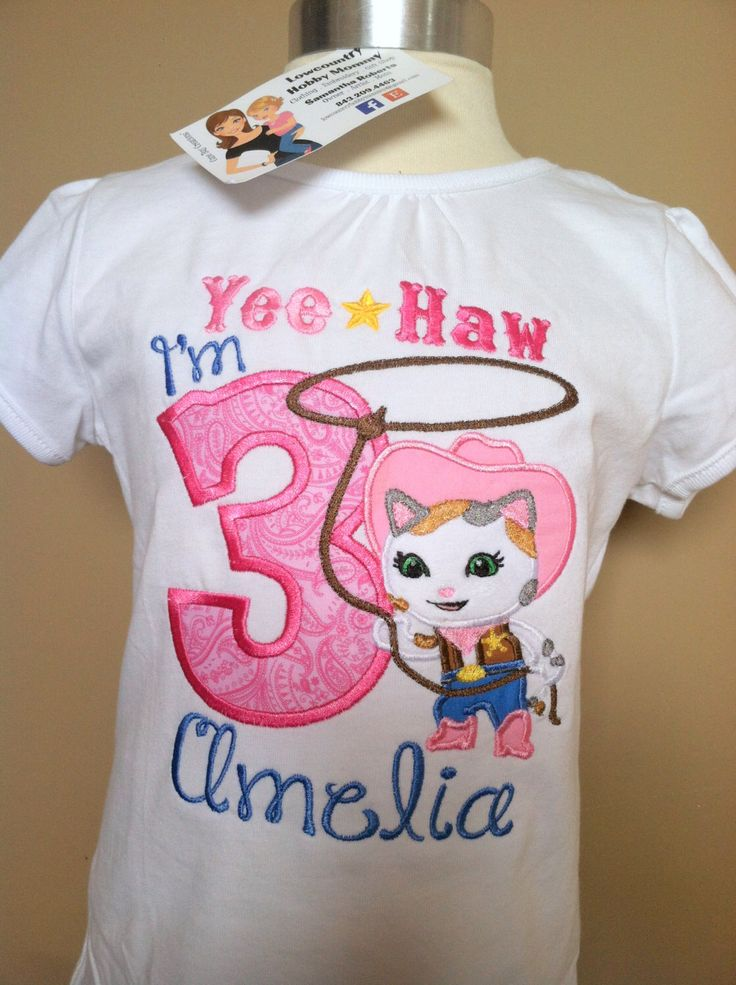 Sheriff Callie Yee Haw Number T-shirt by LowcountryHobbyMommy on Etsy https://www.etsy.com/listing/226547313/sheriff-callie-yee-haw-number-t-shirt