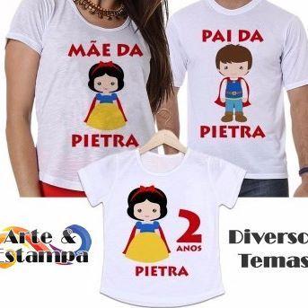 Camisetas para aniversário temático!  Vários temas por apenas 25,00/cada!