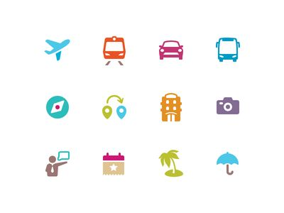 Travel Icons by Alex Potapenko
