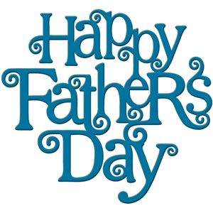 Silhouette Design Store: 'happy father's day' word art...