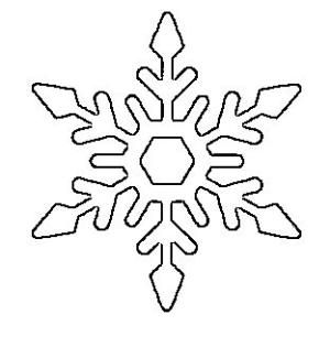 Free Printable Snowflake Templates – Large & Small Stencil Patterns - by dee