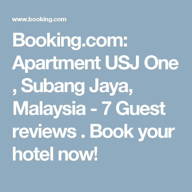 Booking.com: Apartment USJ One , Subang Jaya, Malaysia  - 7 Guest reviews . Book your hotel now!