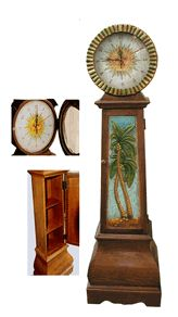 Tropical Decor, Palm Tree Clock-Al Pisano