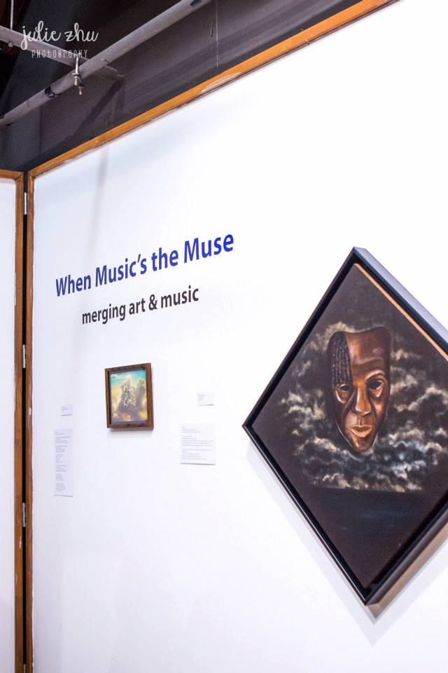 'When Music's the Muse' the relationship between and artwork and music.