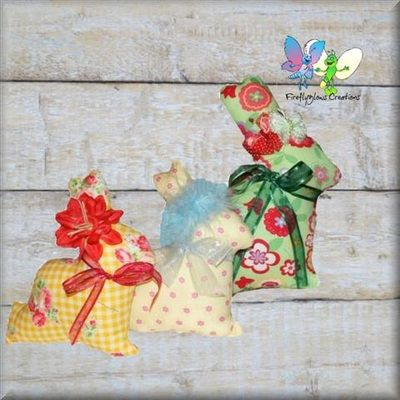 Lecien Fabric Rabbits With usable hair Accessories Large $25 Small $20 each Paypal Only.