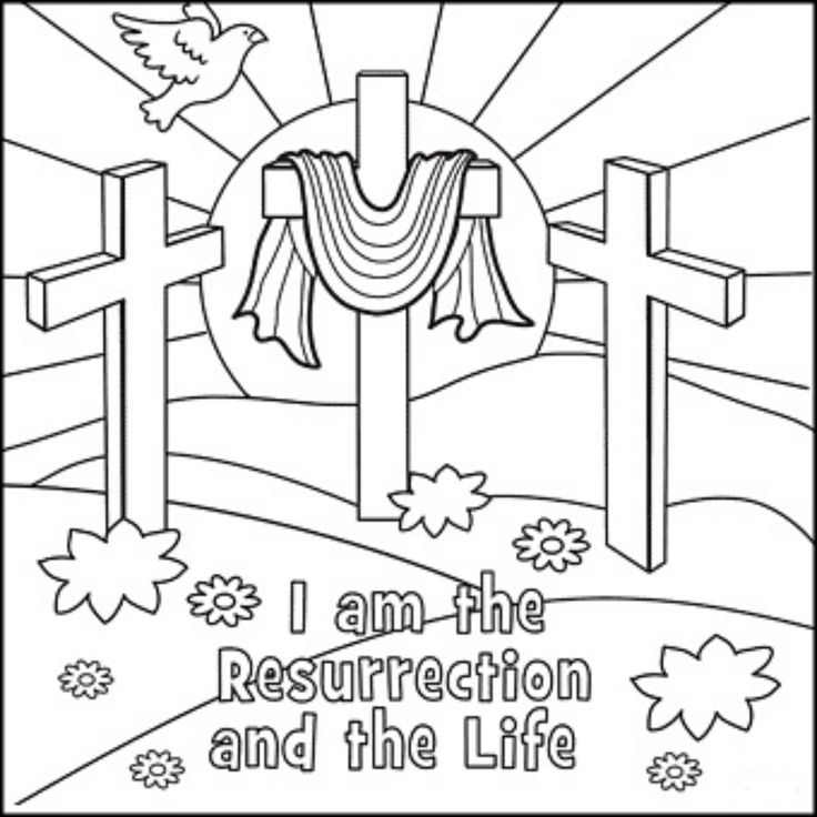 Resurrection of Jesus, coloring page