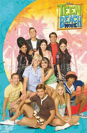 teen beach movie the new film of disneychannel, my favorite actress, Grace Phipps is the one in pink at the middle