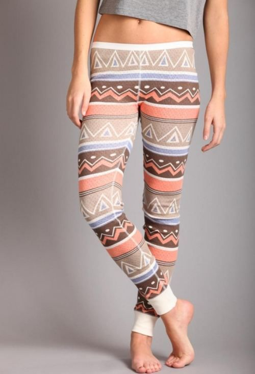 free people tightsPatterned Leggings, Shorts Legs Fashion, Long Underwear, Pattern Legs, Aztec Leggings, Around The House, Tribal Leggings, Comfy Outfit With Legs, Tribal Legs