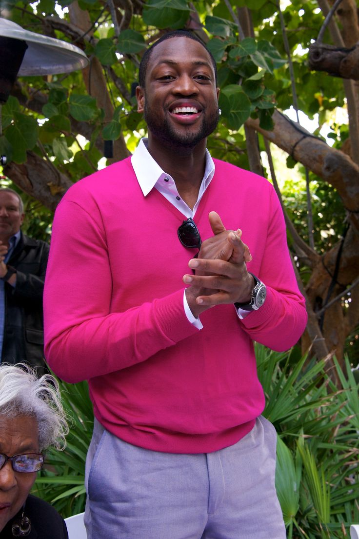 I love a man who isn't afraid of color! (Dwyane Wade)
