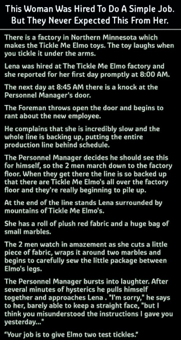Woman Was Hired For A Simple Job But They Never Expected Her To Do This funny jokes story
