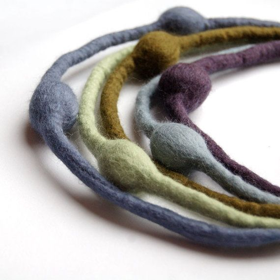 3Fun: Multi Strand Felt Necklace