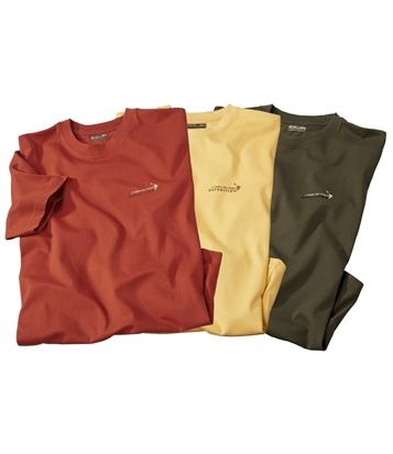 Lot De 3 Tee-Shirts Exp. Cordillera #atlasformen #avis #discount #livraison #commande