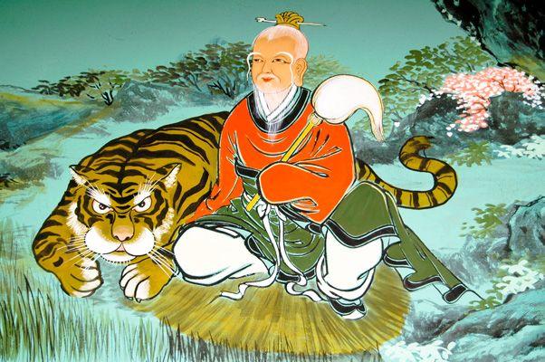 Korean Buddhist ARt   San-shin (산신): The Korean Mountain Spirit   Gyeongjublog.com