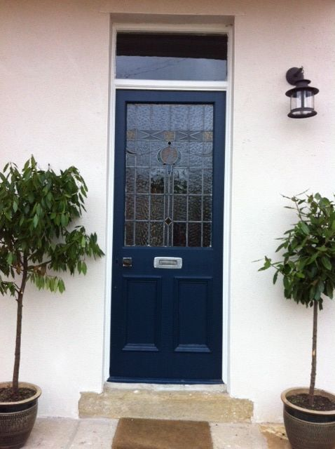 Our front door - Hague blue by farrow and ball