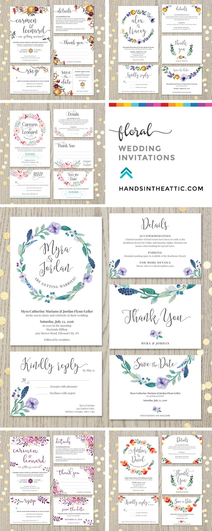83 best Wedding Invitations images on Pinterest | My etsy shop ...